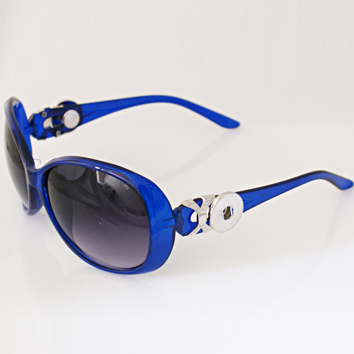 Snap Jewelry Sunglasses - Blue & silver Accents