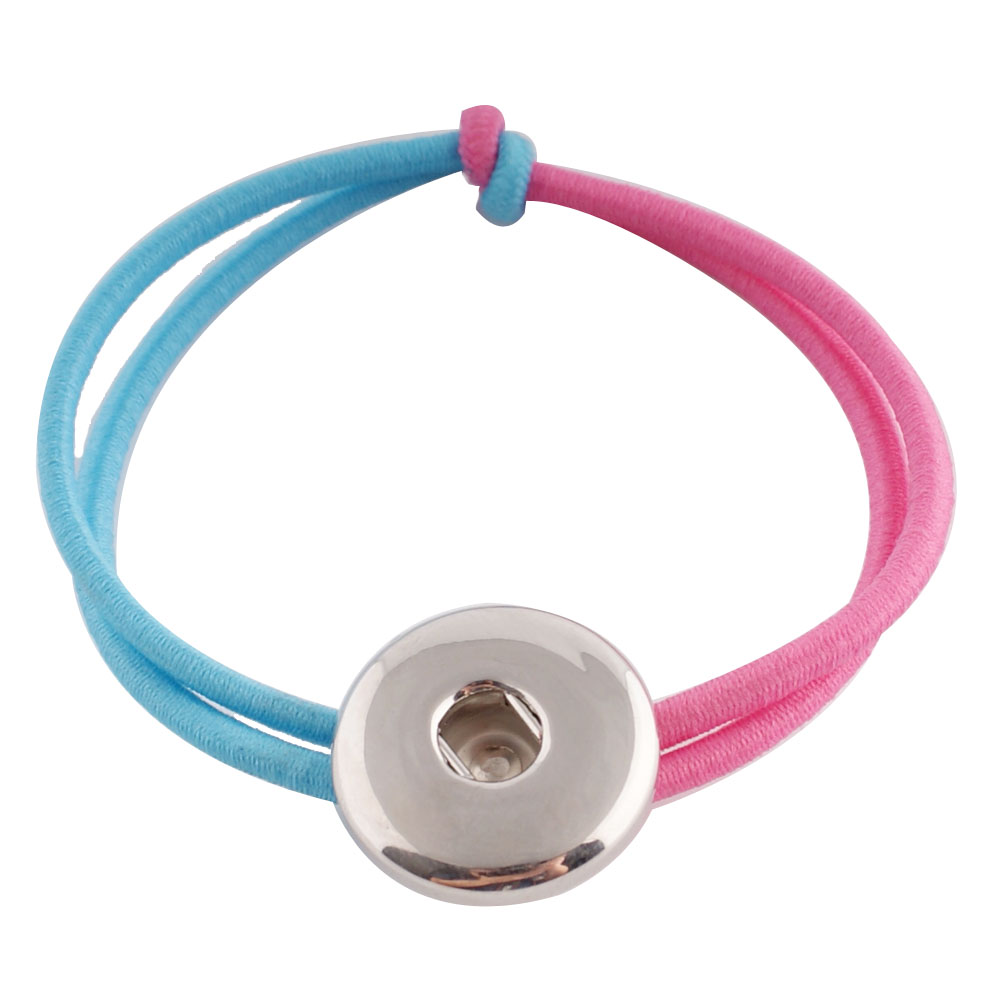 Snap Jewelry Stretch Bracelet & Hair Kids - Light Blue & Pink