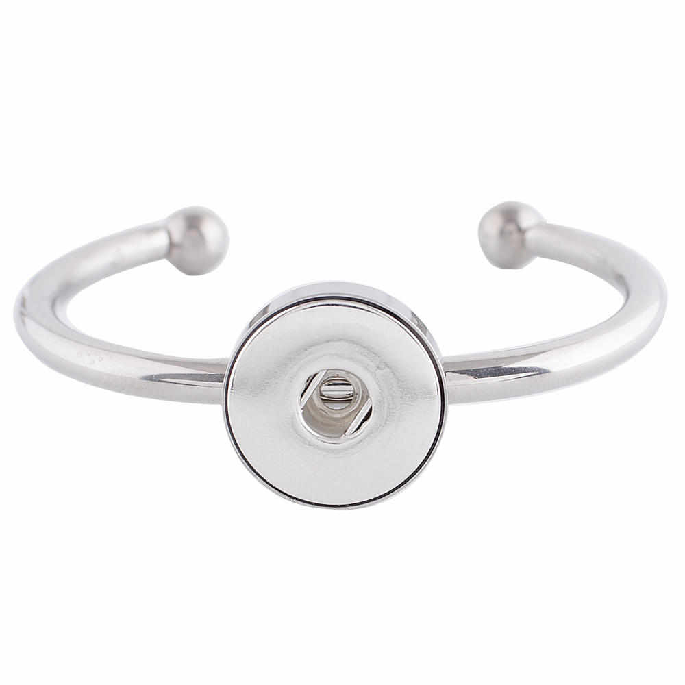 Snap Jewelry Cuff Bangle Stainless Steel