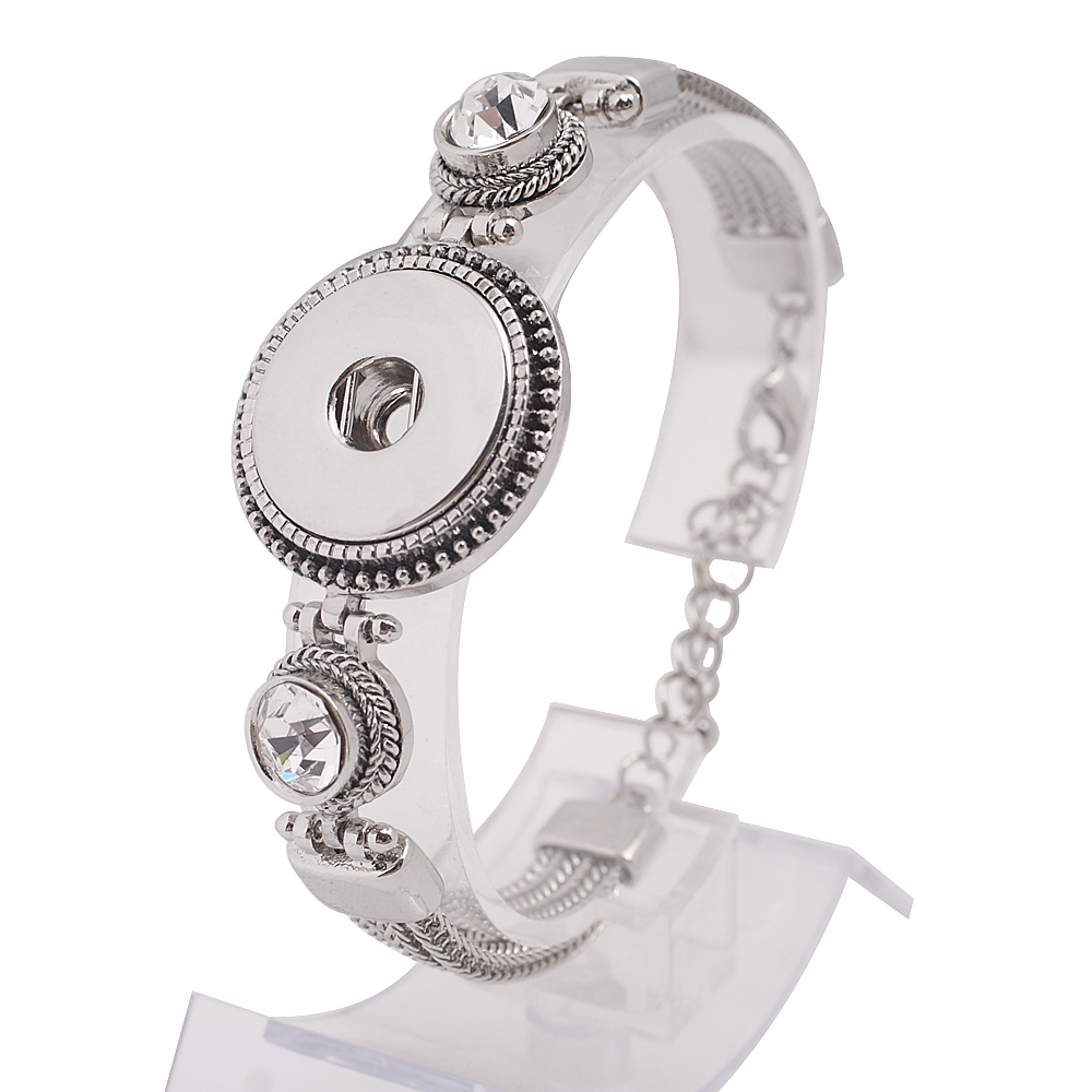 Snap Jewelry Bracelet Lobster Chain & CZ Designer High Quality