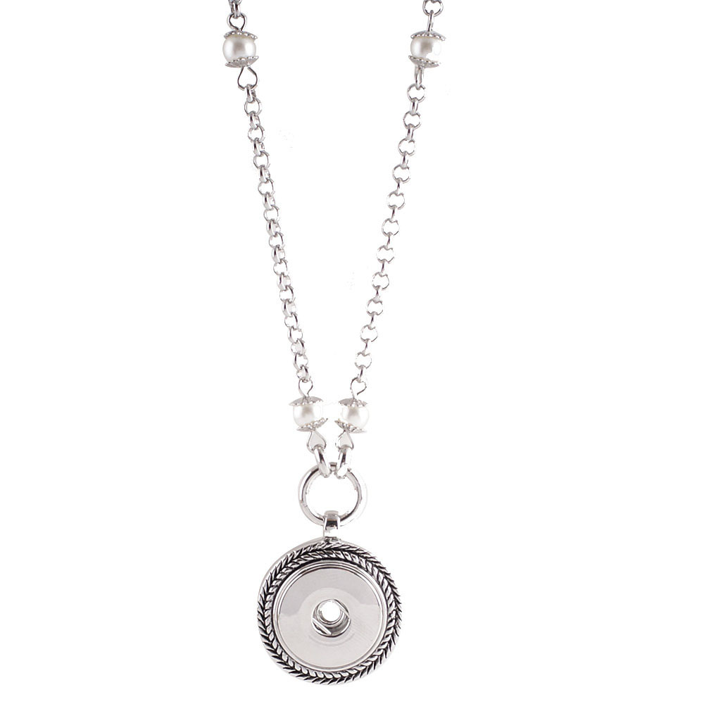 Snap Jewelry Pendant Necklace - Designer & Pearl