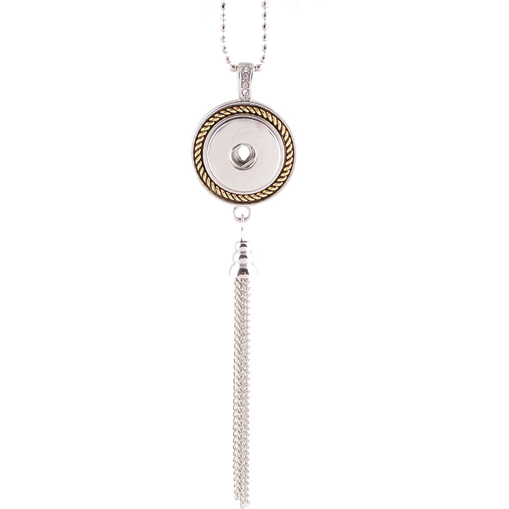 Snap Jewelry Lariat Necklace - Tassle Gold & Silver