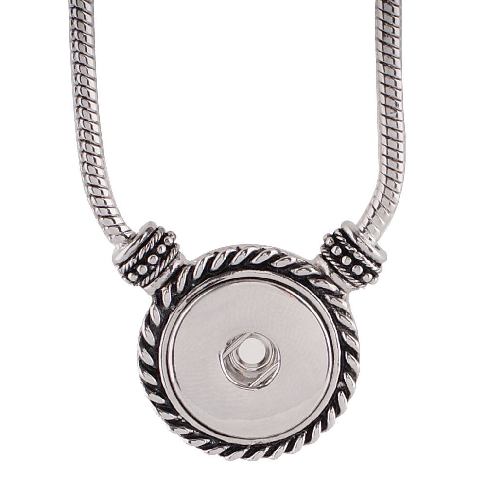 Snap Jewelry Toogle Necklace & Pendant - Designer 20""