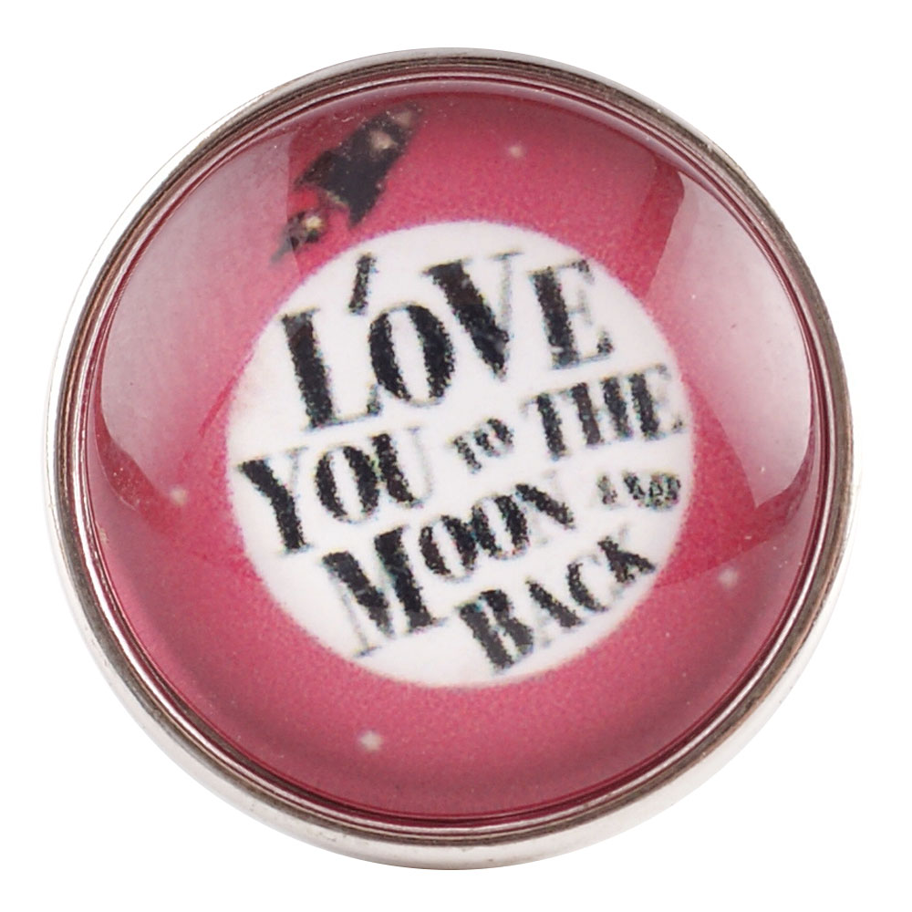 Snap Jewelry Glass - Love You To The Moon and Back