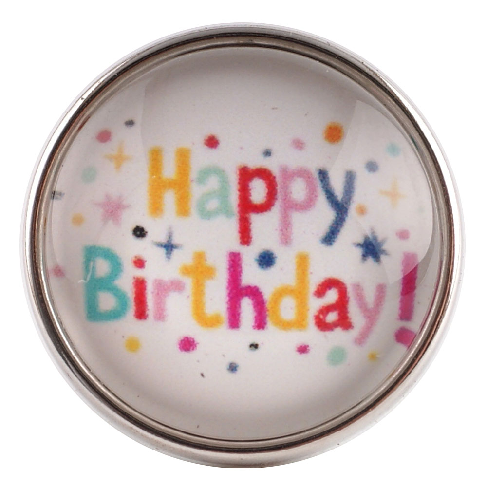 Snap Glass Jewelry - Happy Birthday