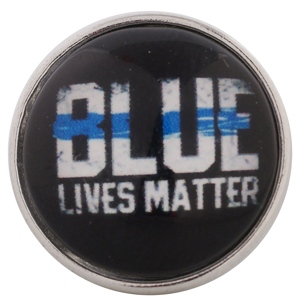 Snap Glass Jewelry - Police Blue Lives Matter