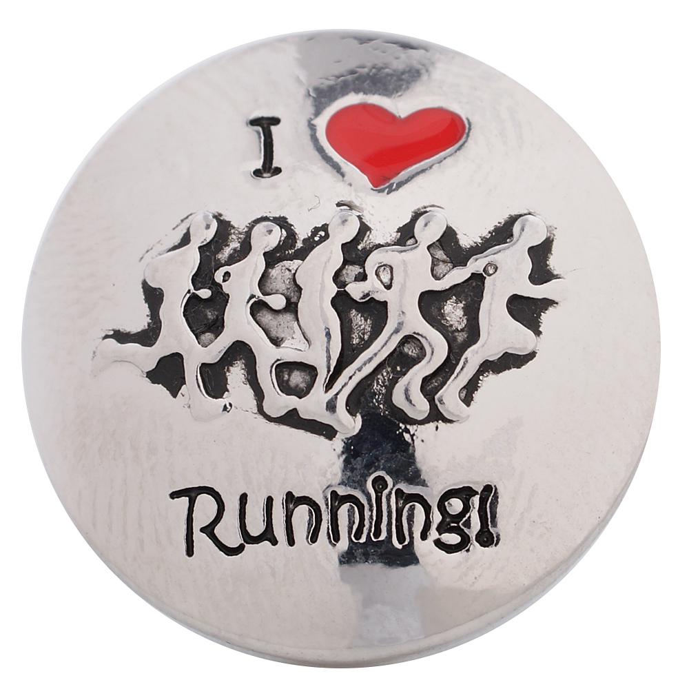Snap Jewelry Metal - Sports - I Love Running