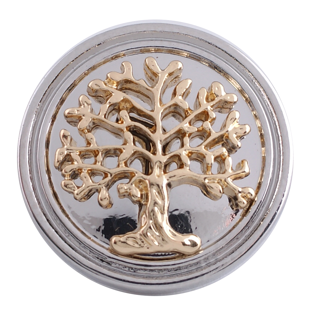 Snap Jewelry Metal - Gold Design - Tree Of Life