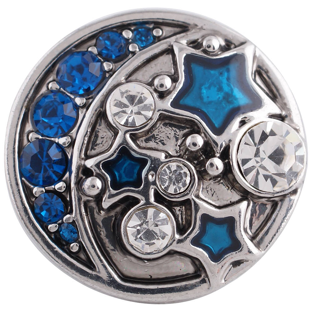 Snap Jewelry Rhinestone - Moon & Stars Blue and Clear