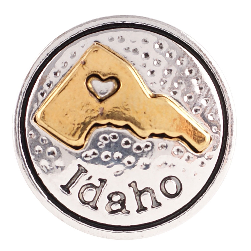 Snap Jewelry Metal - States Idaho