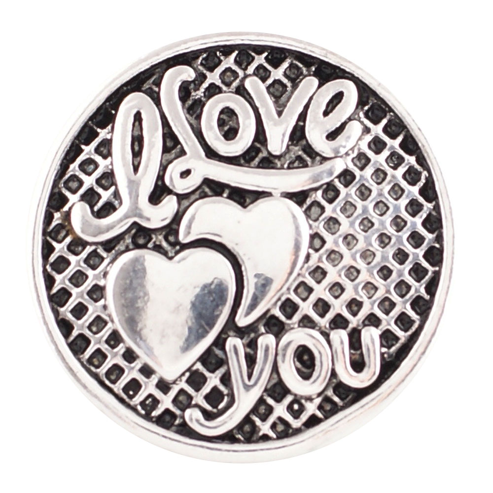 Snap Jewelry Metal - I Love you