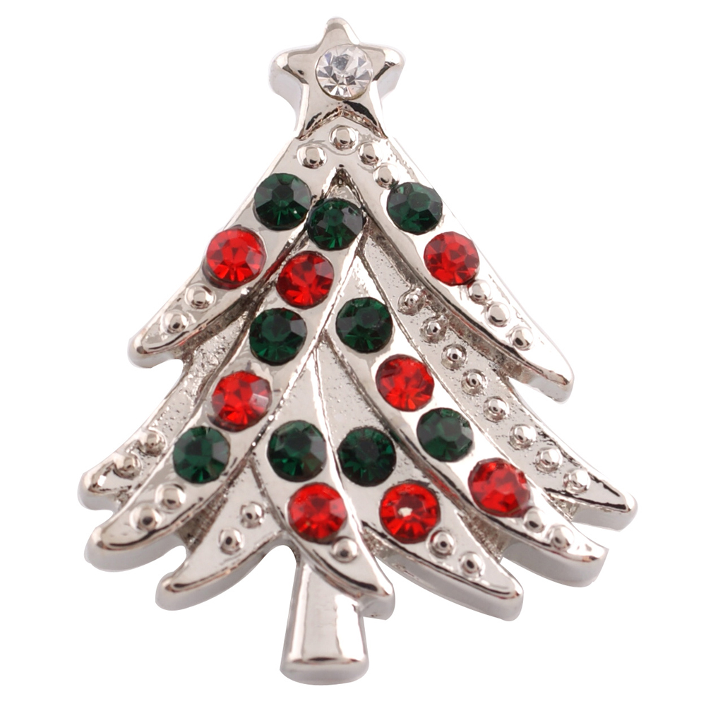 Snap Jewelry Rhinestone - Christmas Tree