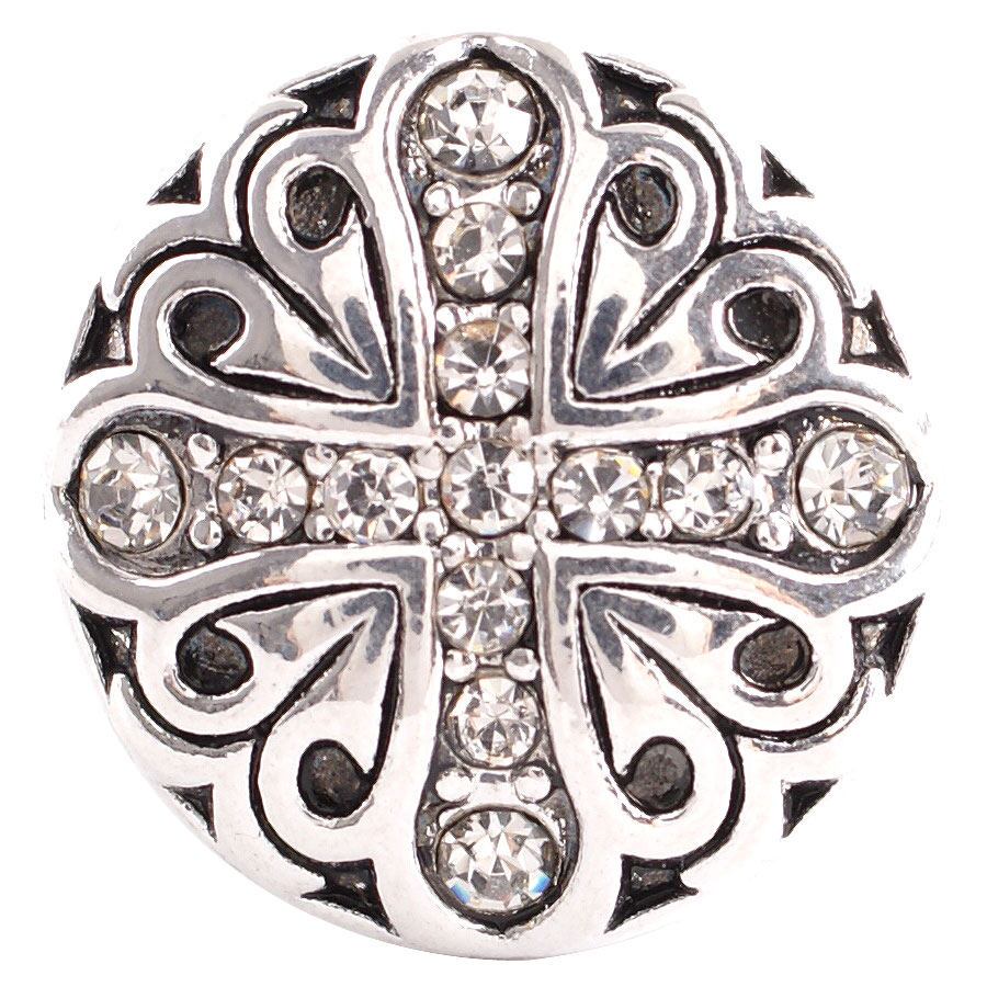 Snap Jewelry Rhinestone - Cross