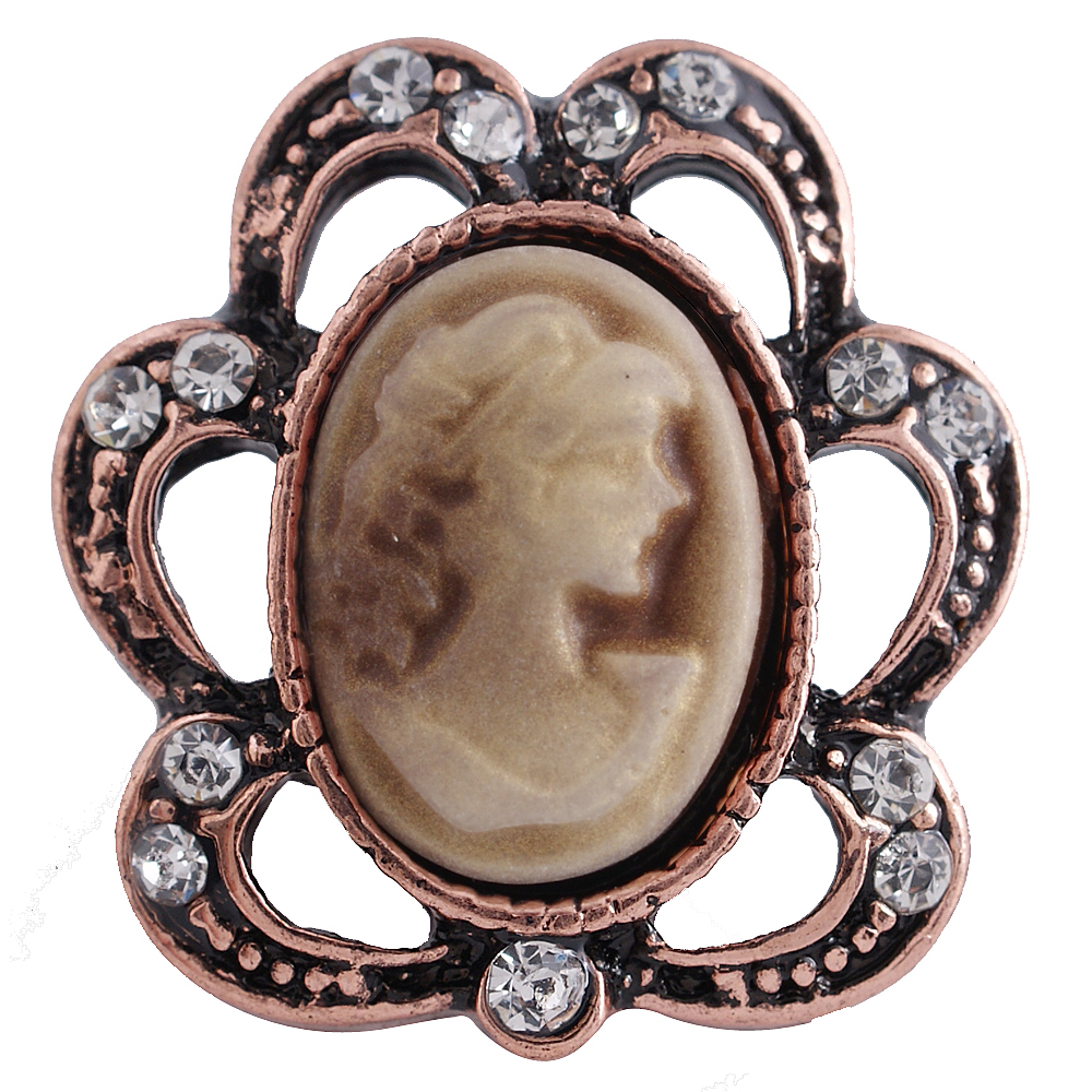 Snap Jewelry Gemstone - Rose Gold Cameo