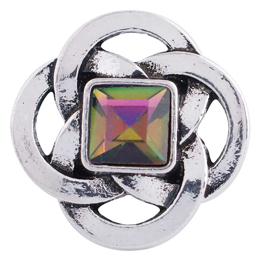 Snap Jewelry Rhinestone - Mystic Topaz Square in Circles