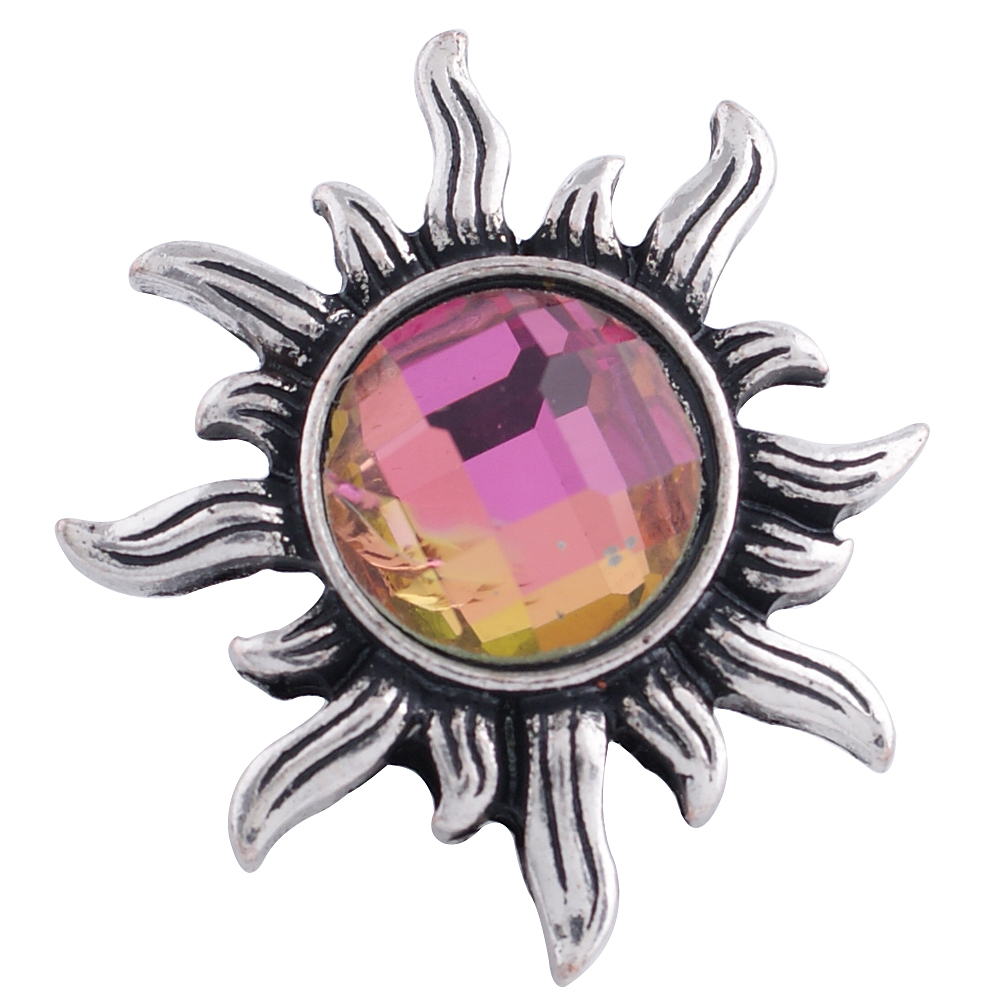 Snap Jewelry Rhinestone - Sun Rainbow