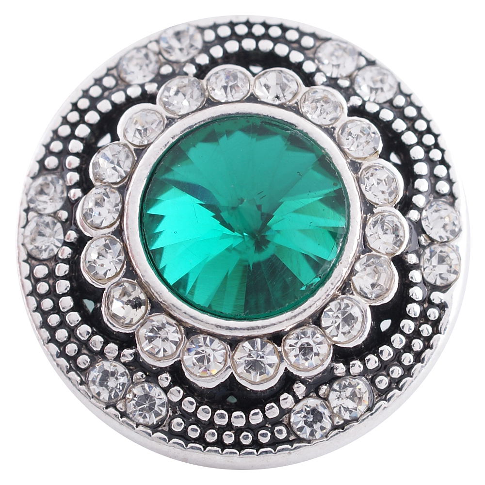 Snap Jewelry Rhinestone - Antique Designer Green