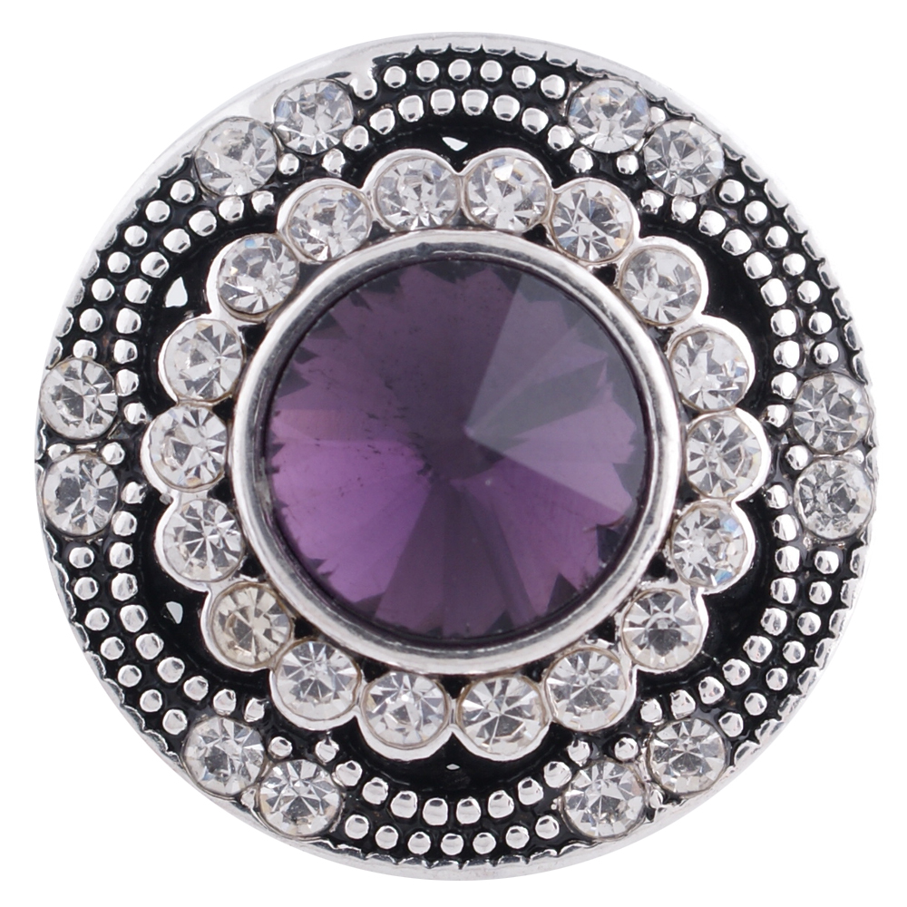 Snap Jewelry Rhinestone - Antique Designer Purple
