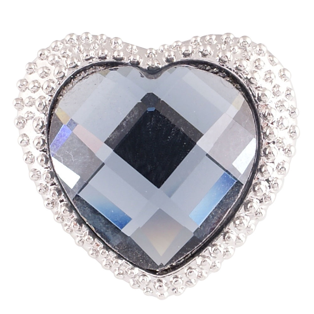 Snap Jewelry Rhinestone - Heart Blue