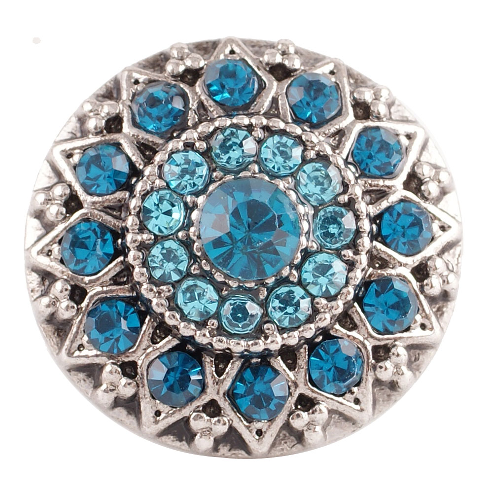 Snap Jewelry Rhinestone - Antique Designer Blue