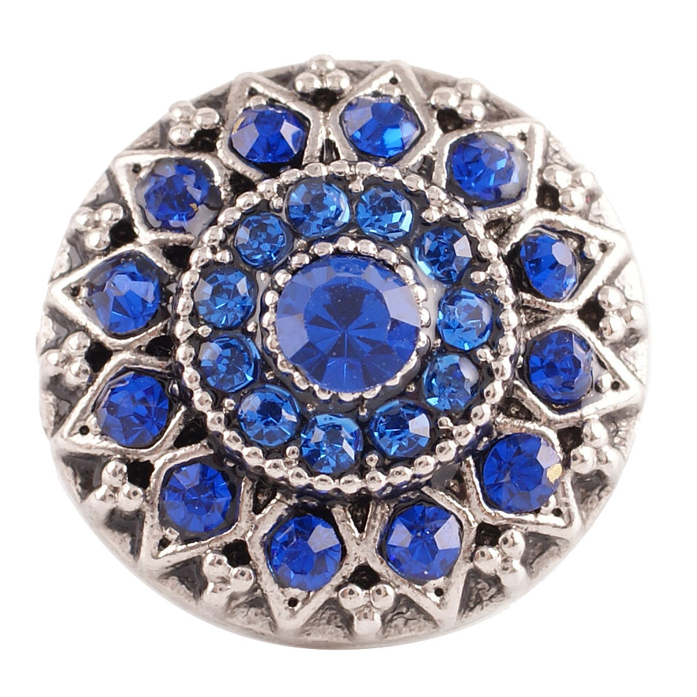Snap Jewelry Rhinestone - Antique Designer Dark Blue