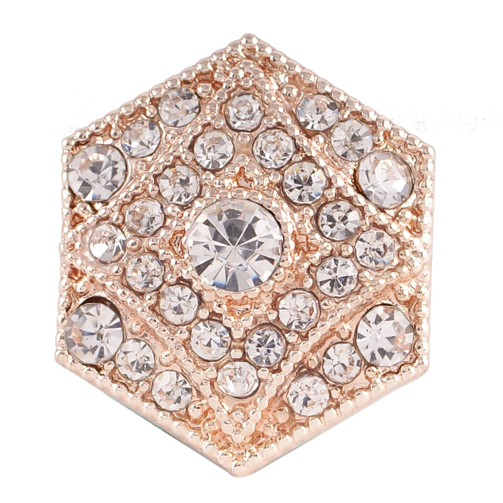 Snap Jewelry Rhinestone - Rose Gold Clear Diamond