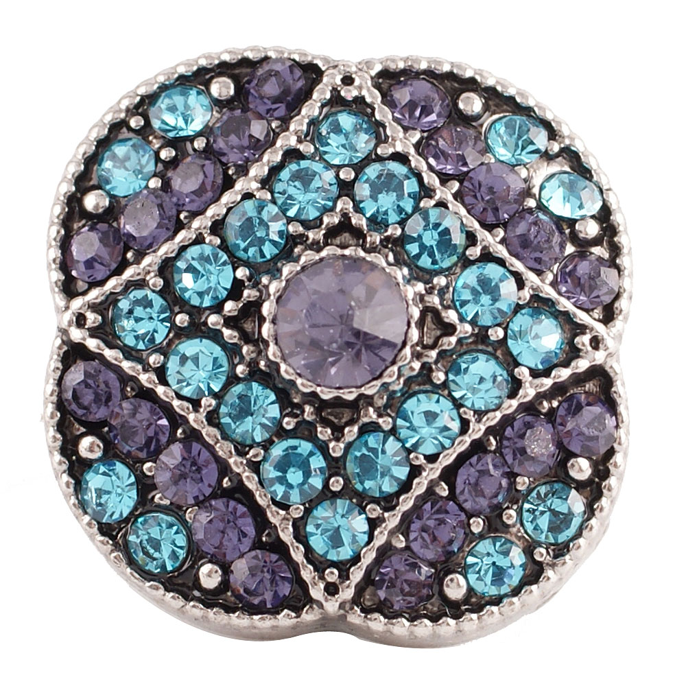 Snap Jewelry Rhinestone - Purple & Light Blue