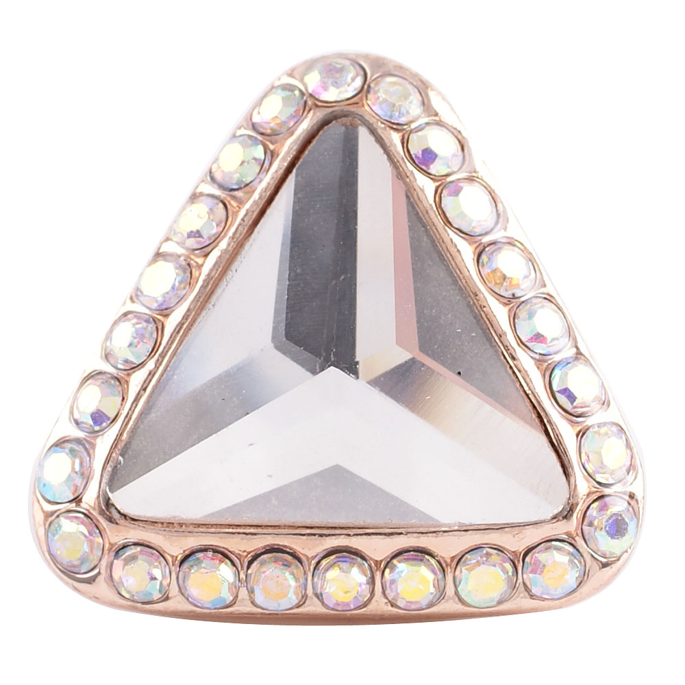 Snap Jewelry Rhinestone - Rose Gold Triangle Clear & AB