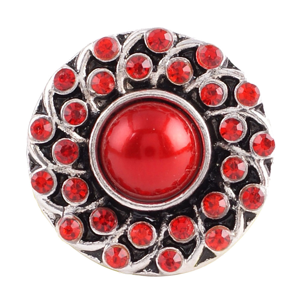Snap Jewelry stone - Red