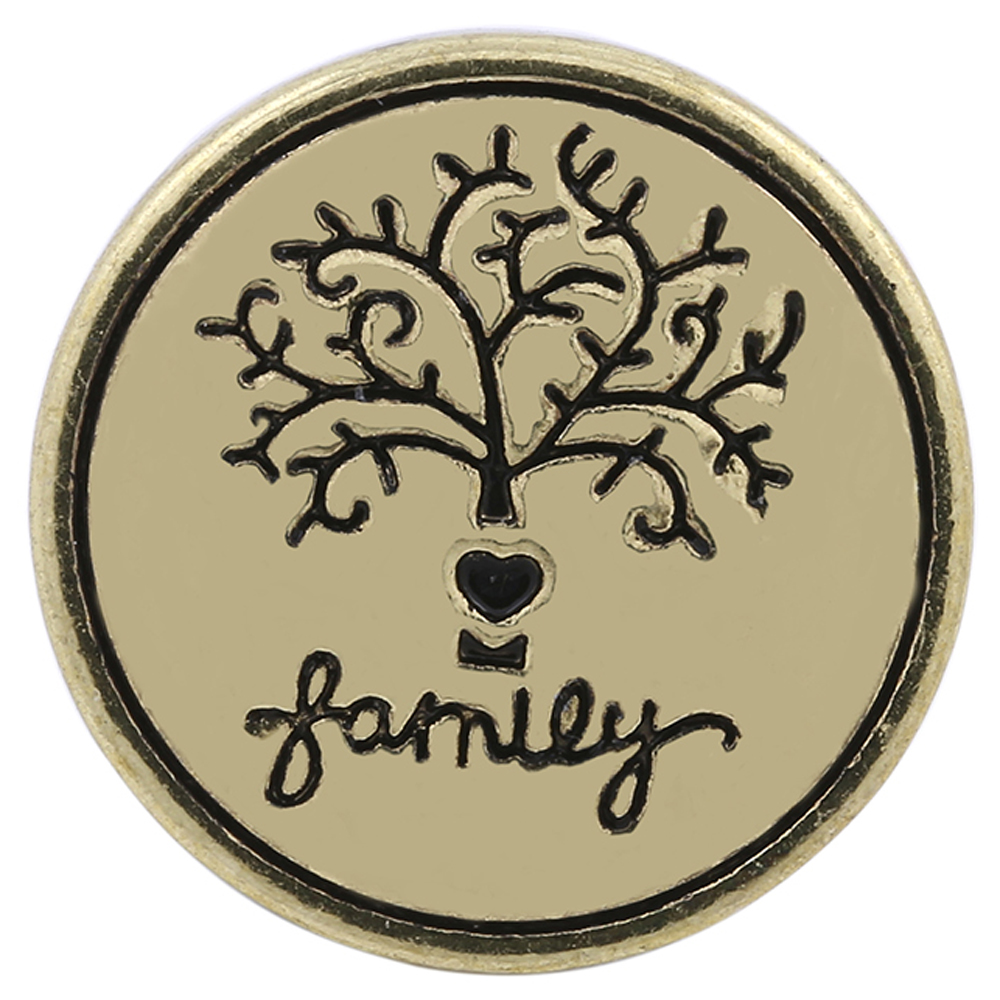 Snap Jewelry Metal - Family Tree Gold