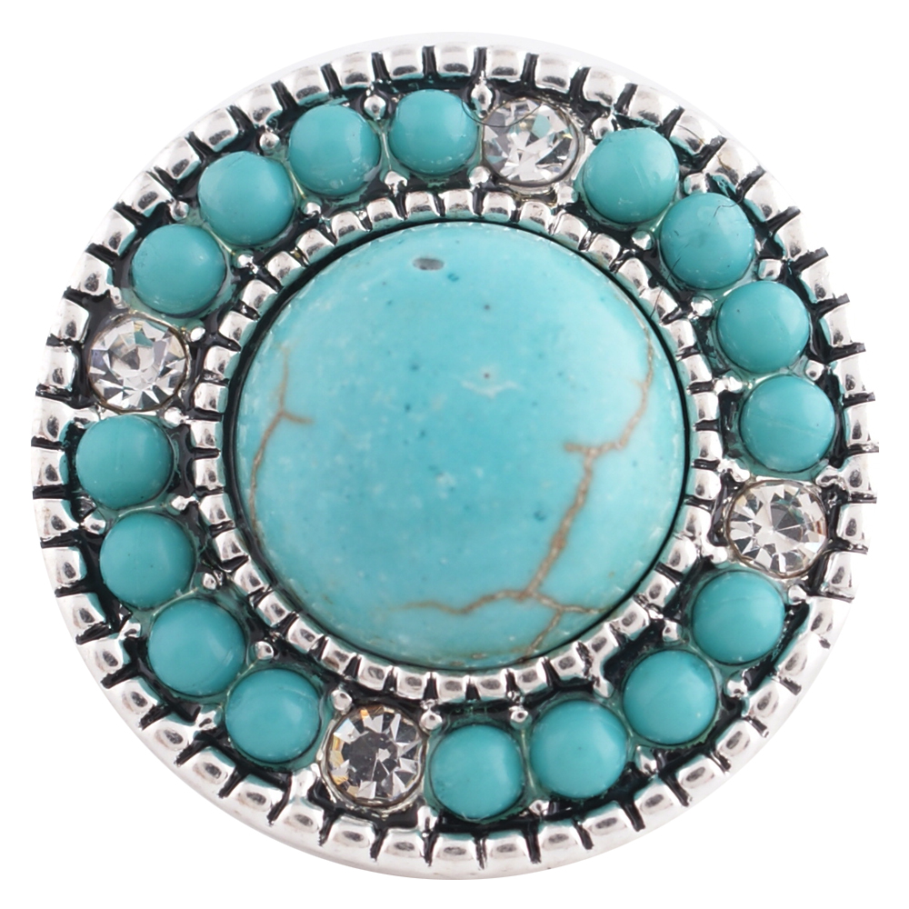 Snap Jewelry Gemstone - Turquoise Halo