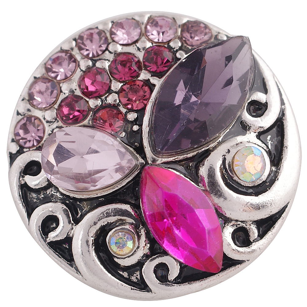 Snap Jewelry Rhinestone Designer - Purple, Fuscia and Lt. Pink