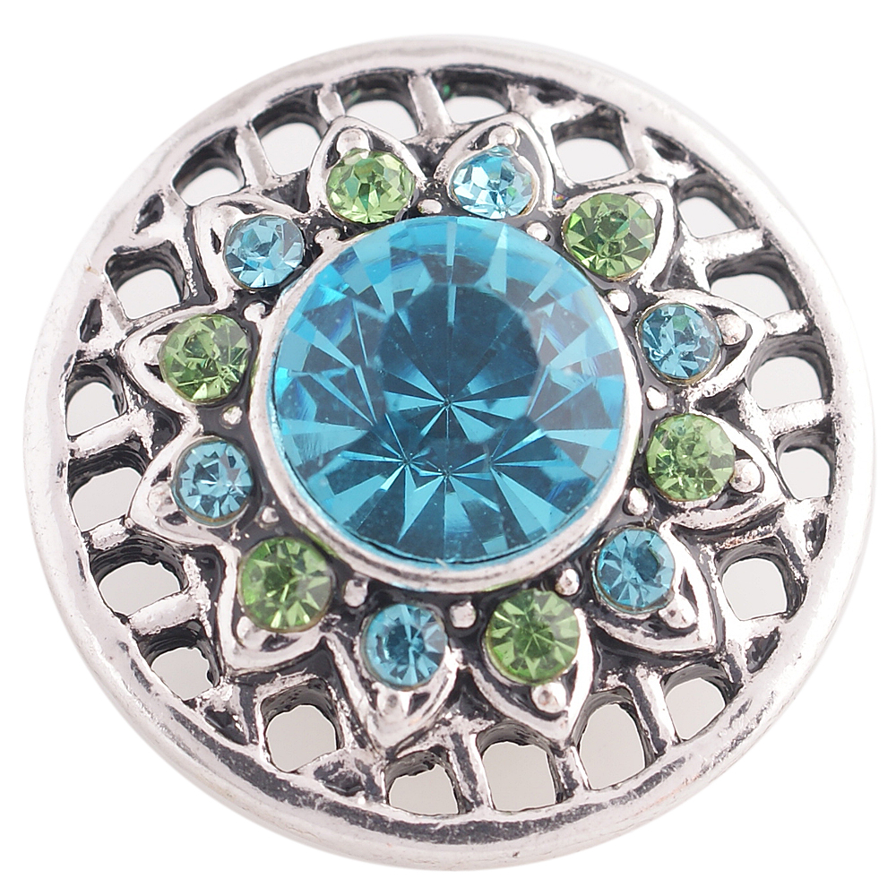 Snap Jewelry Rhinestone - Design - Peridot & Light Blue