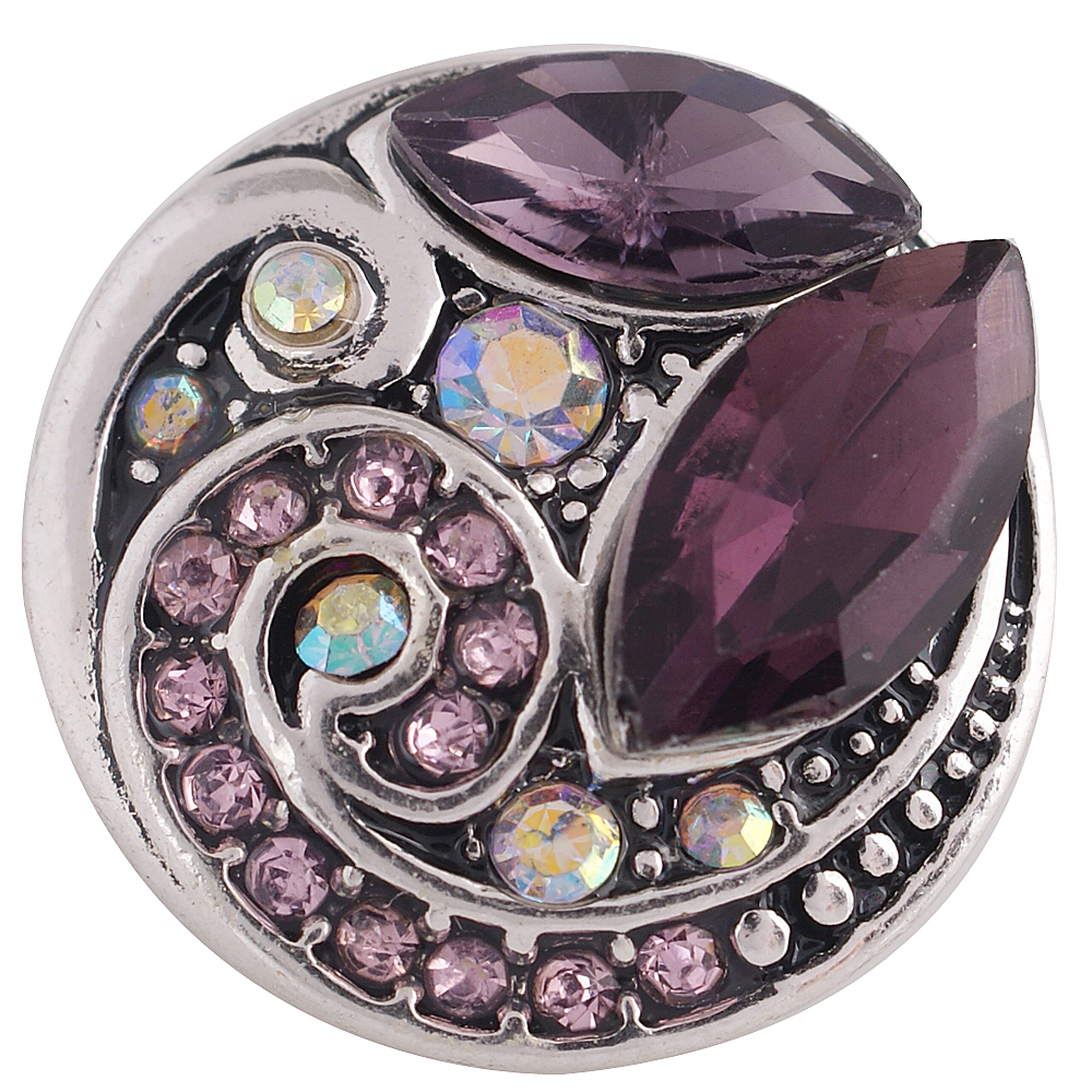 Snap Jewelry Rhinestone - Design - AB, Purple & Amethyst