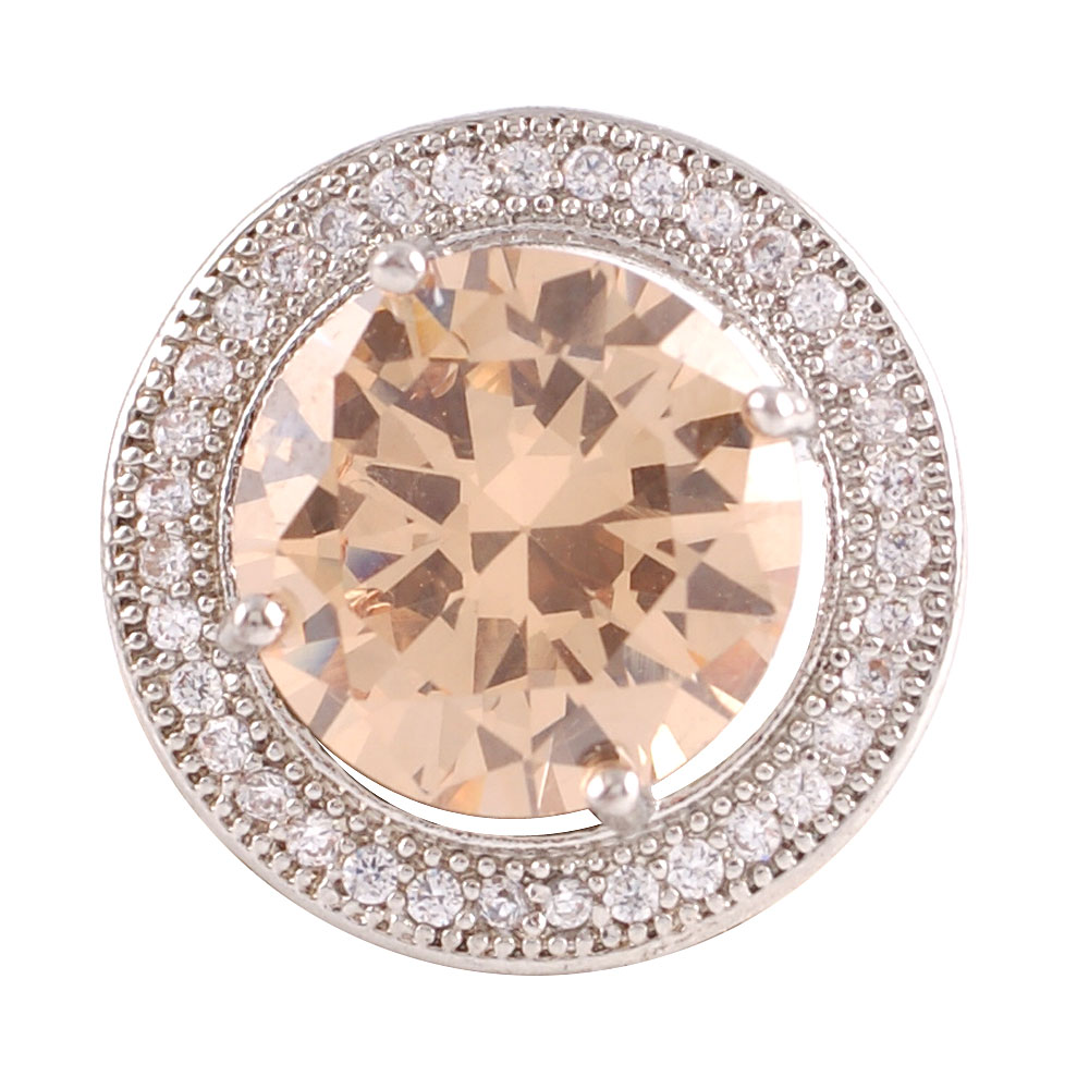 Snap Jewelry Large CZ - Round Beige