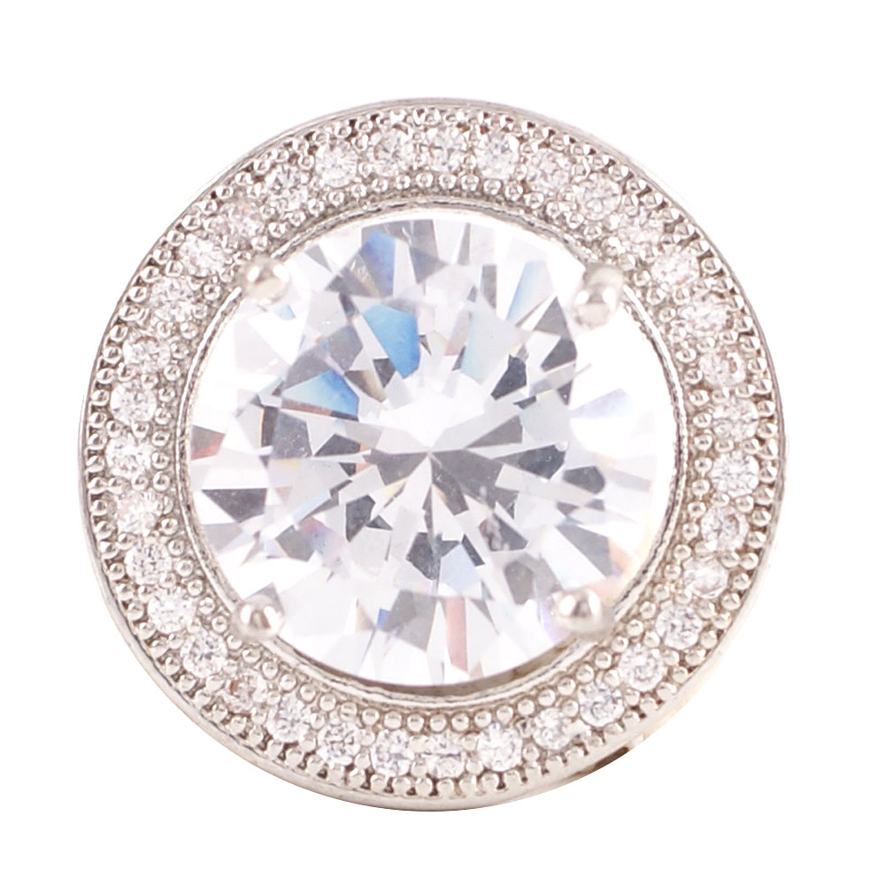 Snap Jewelry Large CZ - Round Clear