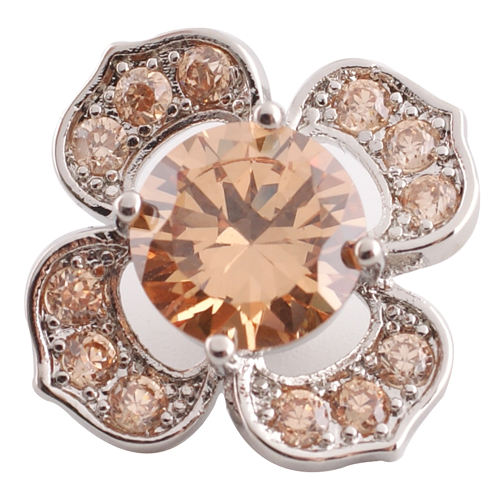 Snap Jewelry Large CZ - Flower Topaz
