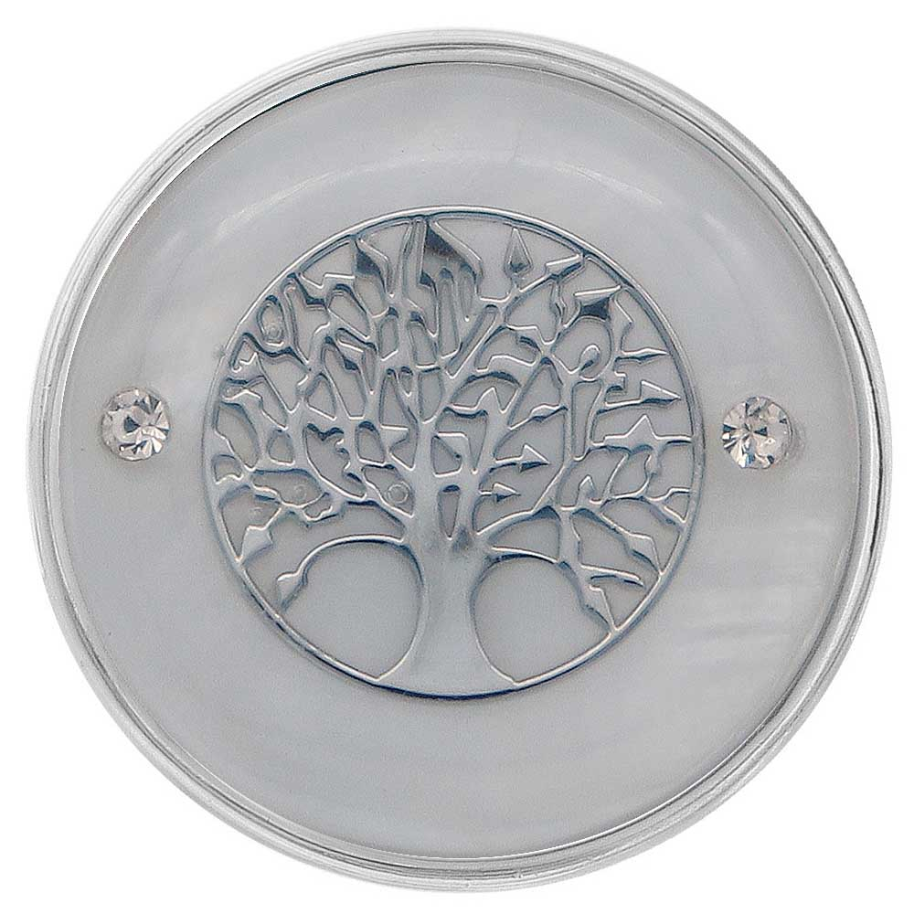 "Snap Jewelry Abalone - Mother of Pearl ""Tree Of Life"""