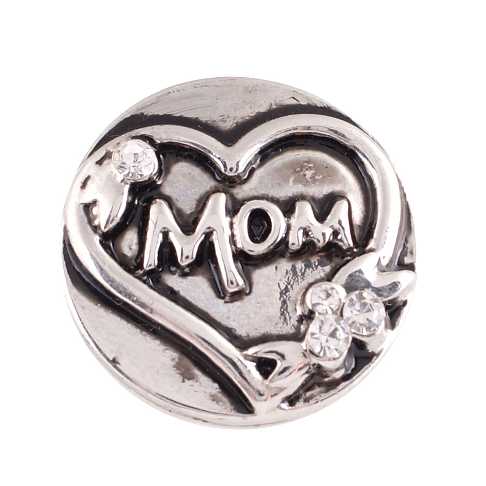 Snap Jewelry Metal - Mom Heart