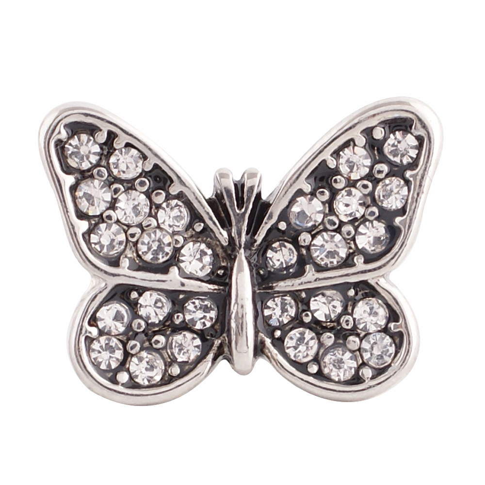 Snap Jewelry Rhinestone - Butterfly Clear