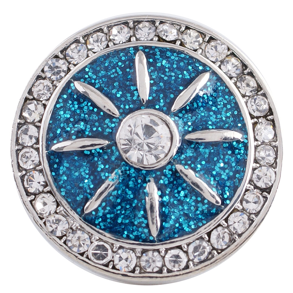 Snap Jewelry Rhinestone - Diamond Powder Blue & Clear