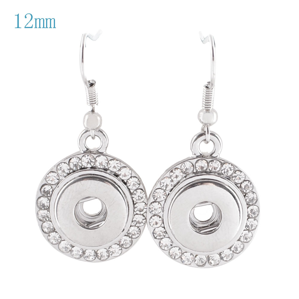 Mini Snap 12mm - Earrings Rhinestone Halo
