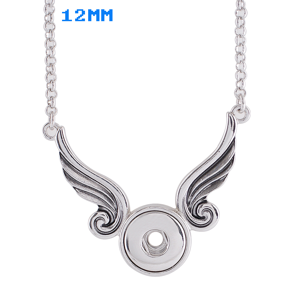 Mini Snap 12mm - Necklace & Pendant Wings 18""