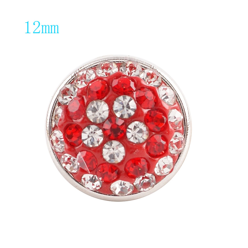 Mini Snap 12mm - Crystal Red & Clear