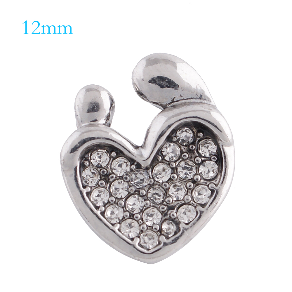 Mini Snap 12mm - Rhinestone Mother and Child