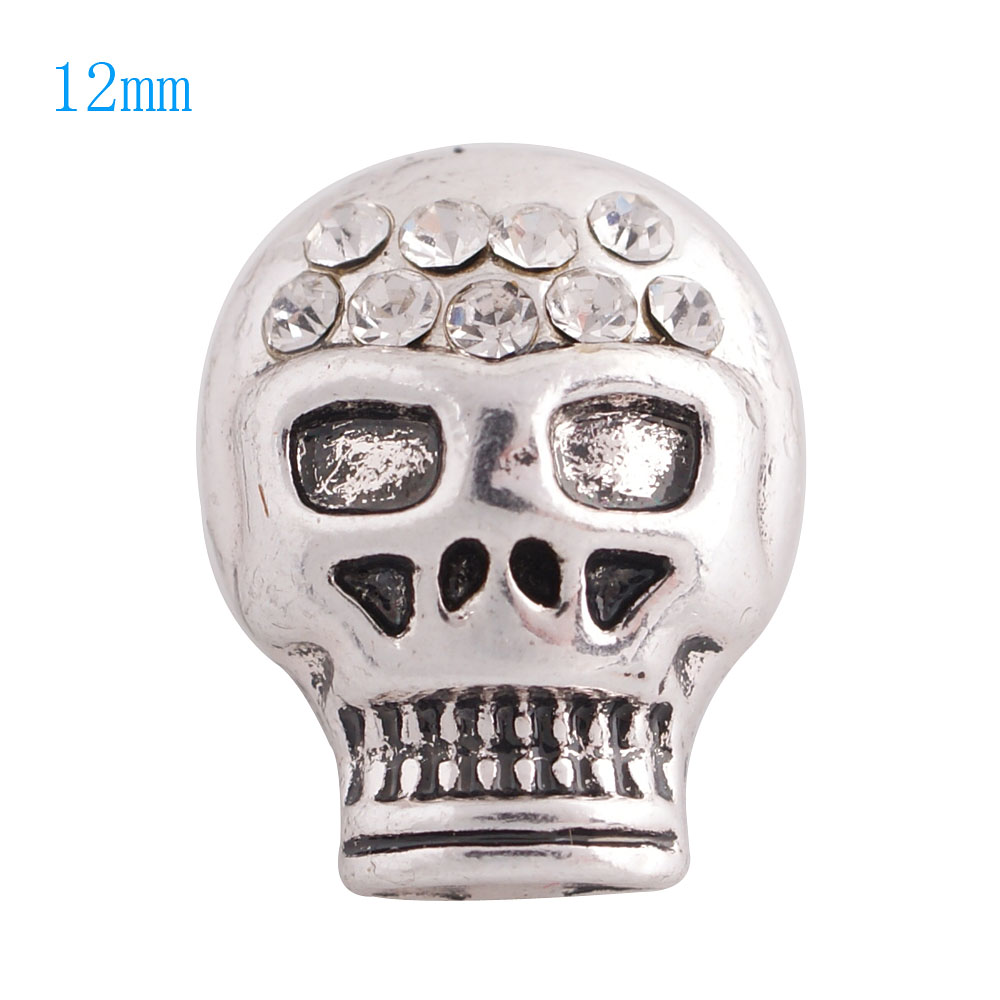 Mini Snap 12mm - Metal Skull Clear