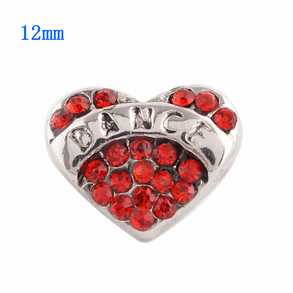Mini Snap 12mm - Dance Red Heart