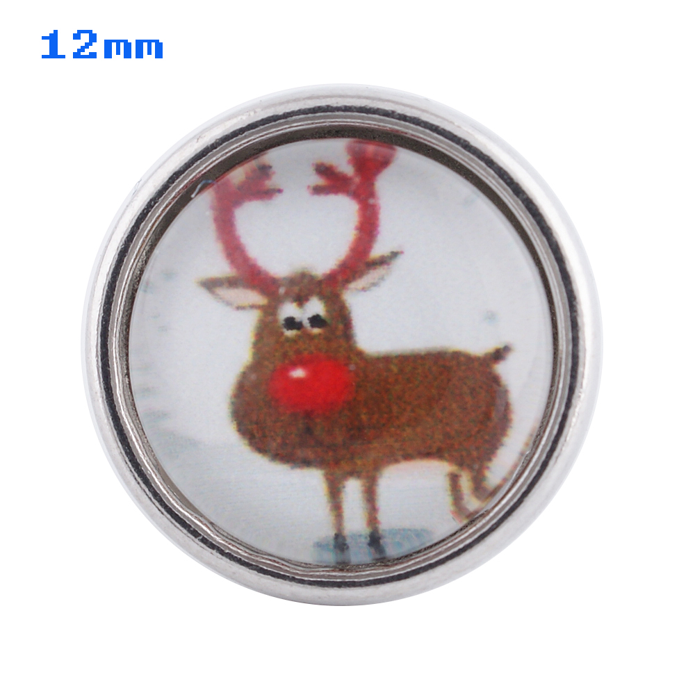 Mini Snap 12mm - Red Nose Reindeer