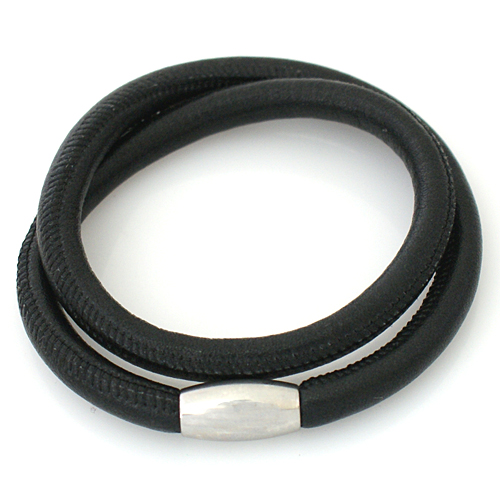 End Less Bracelet Magnetic Wrap Double Black 39CM - 15.35 inches