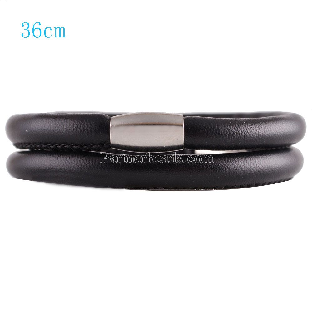 End Less Bracelet Magnetic Wrap Double Black 36CM - 14 inches